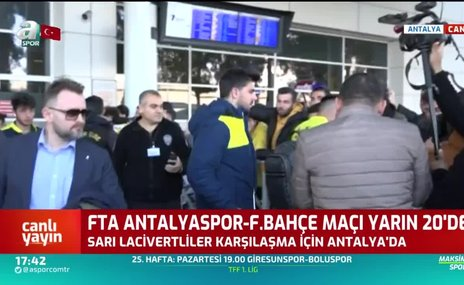 Fenerbahçe kafilesi Antalya'da