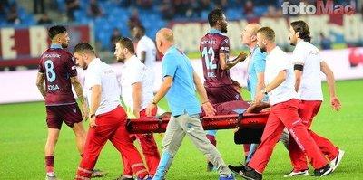 Trabzonspor'da 4. sakatlık! Sedye ile terketti