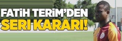 Galatasaray'da Fatih Terim'den Seri kararı!