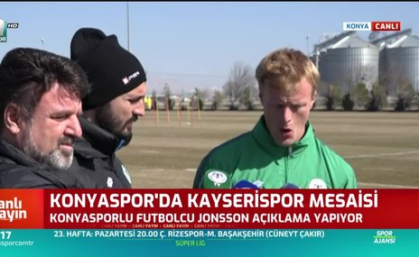 Konyasporlu Jonsson umutlu konuştu