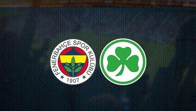 Fenerbahçe - Greuther Fürth maçı ne zaman, saat kaçta ve hangi kanalda canlı yayınlanacak?   Fenerbahçe hazırlık maçı
