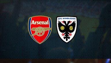 Arsenal AFC Wimbledon maçı ne zaman, saat kaçta ve hangi kanalda CANLI yayınlanacak?   İngiltere Lig Kupası