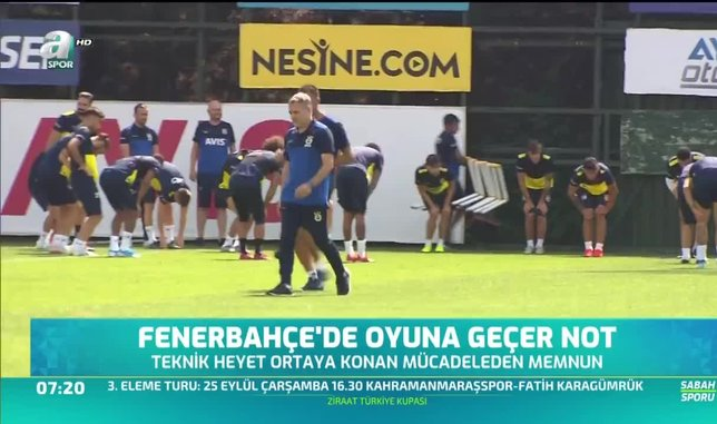 Fenerbahçe'de oyuna geçer not