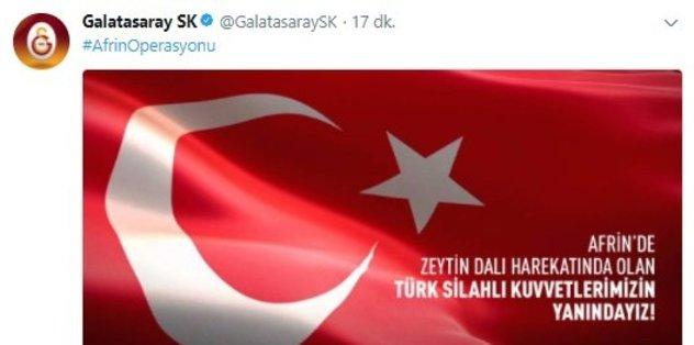 Futbol kulüplerinden Mehmetçiklerimize destek