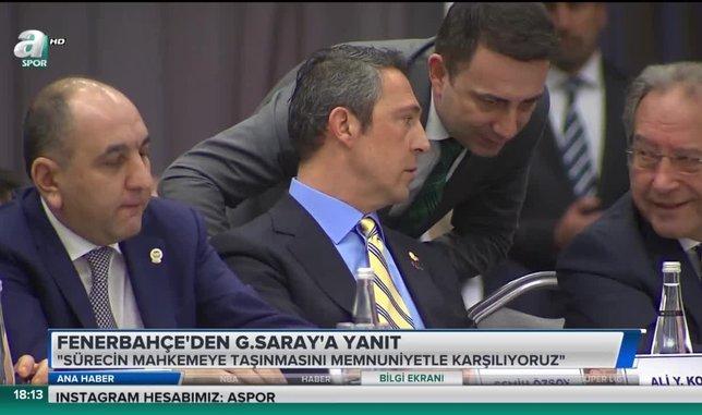 Fenerbahçe'den Galatasaray'a tepki