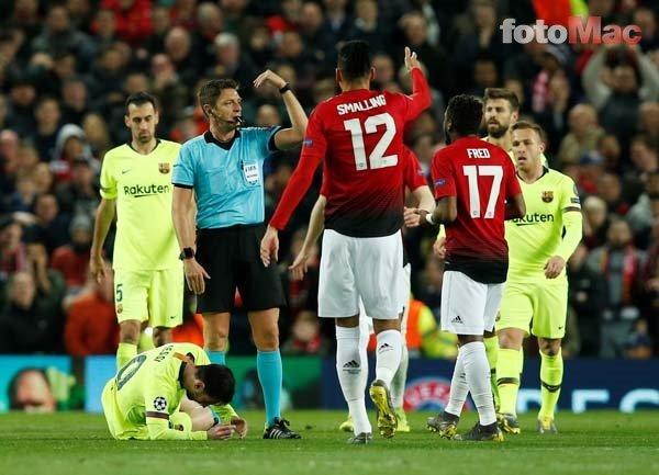 Manchester United - Barcelona maçına damga vuran an! Messi kanlar içinde...