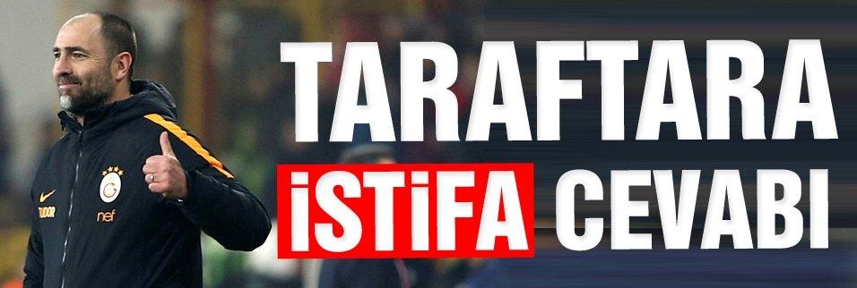 TUDOR'DAN TARAFTARA İSTİFA CEVABI!