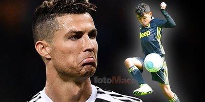 Cristiano Ronaldo Jr. babasını ikiye katladı!