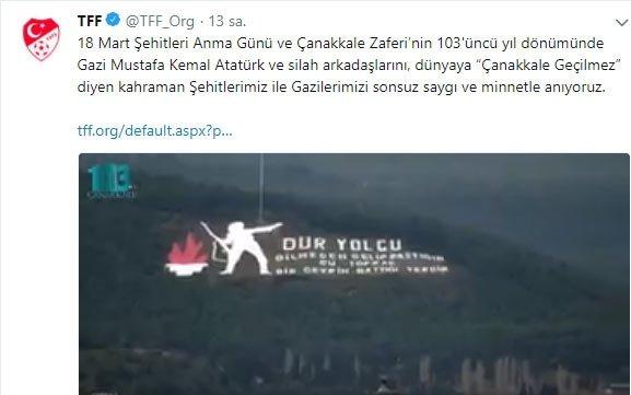 Türk sporu Çanakkale Şehitlleri'ni andı