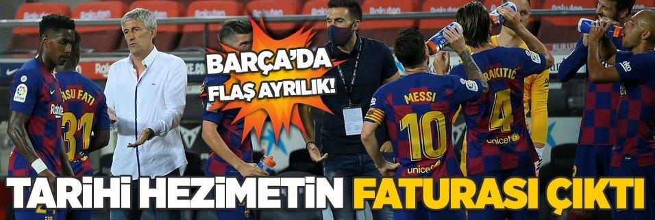 Ağır yenilginin faturası çıktı! Barça'da flaş ayrılık