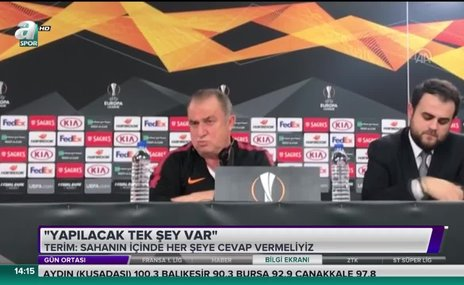 Fatih Terim: Yapılacak tek şey var