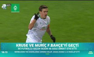 Kruse ve Muriç Fenerbahçe'yi geçti