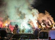 Ankara'da sarı lacivert kutlama