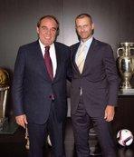 Demirören'den UEFA Başkanına ziyaret