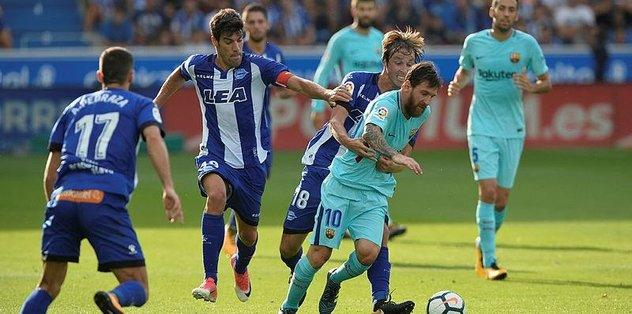 Barcelona'yı yine Messi sırtladı