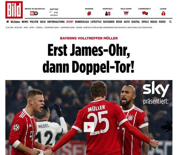 Dış basında B. Münih - Beşiktaş maçı yorumları