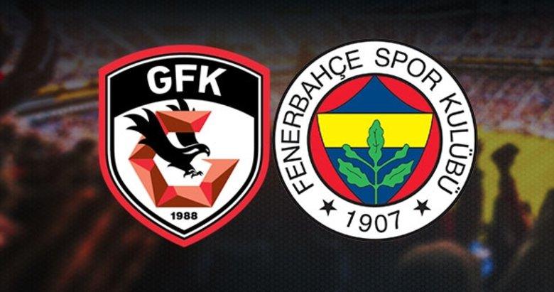İşte Gaziantep FK-Fenerbahçe maçı muhtemel 11'leri!