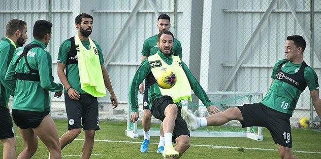 Konyaspor'da Beşiktaş maçı hazırlıkları sürdü