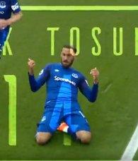 İngiltere Premier Lig ekibi Evertondan Cenk Tosun videosu
