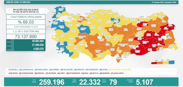 Sağlık Bakanı Fahrettin Koca güncel corona virüsü rakamlarını açıkladı 31 Temmuz 2021 koronavirüs... 13