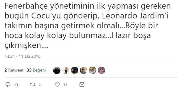 Fenerbahçe taraftarından Leonardo Jardime çağrı!