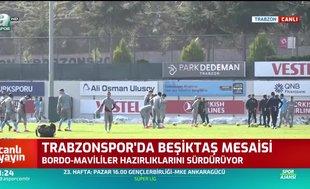 Trabzonspor'da Beşiktaş mesaisi sürüyor