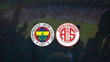 Fenerbahçe maçı hangi kanalda? Fenerbahçe - Antalyaspor maçı saat kaçta? Şifresiz mi? Bilet fiyatları ne kadar?   FB haberleri