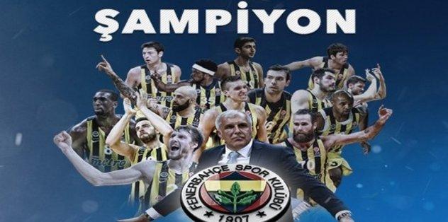Fenerbahçe üst üste 2. kez şampiyon!