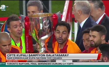 Çifte kupalı şampiyon Galatasaray