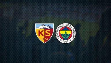 Kayserispor - Fenerbahçe maçı ne zaman, saat kaçta ve hangi kanalda canlı yayınlanacak? | Süper Lig (FB haberleri)