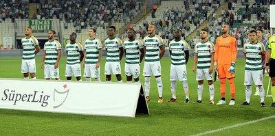 Bursaspor kadrosu hakkını veremedi