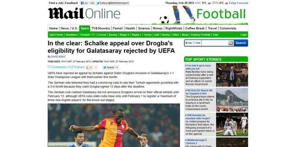 Schalke'nin itirazı reddedildi, bütün dünya yazdı