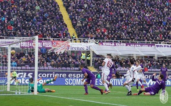 Milan puanı Hakan'la kurtardı (Fiorentina-Milan maçından kareler)