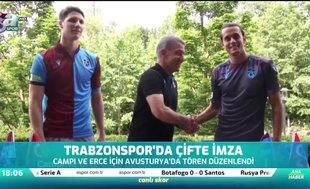 Trabzonspor'da çifte imza