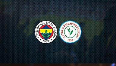 Fenerbahçe - Çaykur Rizespor   CANLI