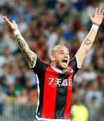 Nice'te Sneijder depremi!