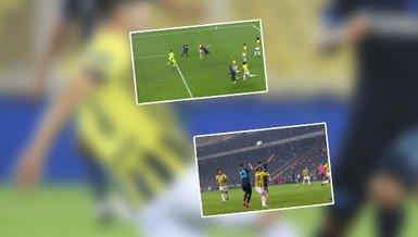 Fenerbahçe - Trabzonspor maçında o an! İşte konuk ekibin penaltı beklediği pozisyon