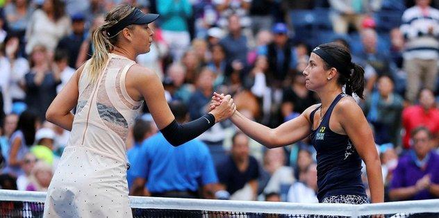 Sharapova ABD Açık'a veda etti