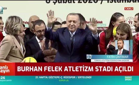 Burhan Felek Atletizm Stadı açıldı