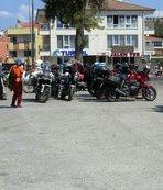 Motosiklet festivali için Midilli Adası'na geçtiler