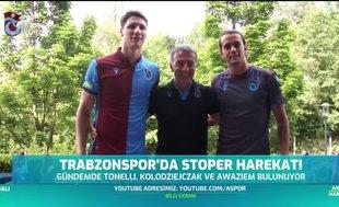 Trabzonspor''da stoper harekatı