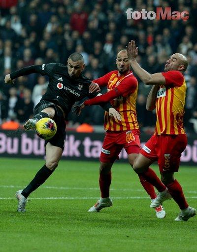 Vodafone Park'ta şok protesto! İşte o anlar... (Beşiktaş - Kayserispor maçından kareler...)
