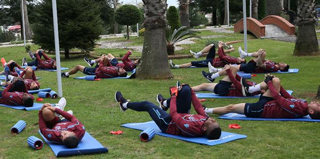 Trabzonspor Fenerbahçe maçı hazırlıkları sürdürdü