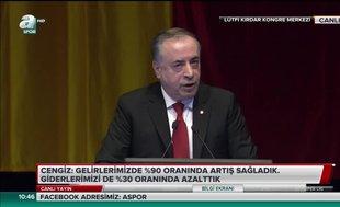 """Mustafa Cengiz: """"Şampiyonlar Ligi gişe geliri 202 milyon TL"""""""