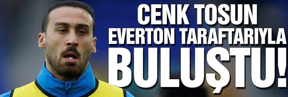 Cenk Tosun, Everton taraftarıyla buluştu! İlk 11'de...