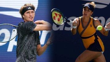Alexander Zverev ve Belinda Bencic çeyrek finalde!