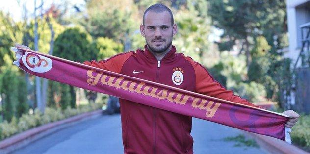 Galatasaray, Sneijder'e teşekkür etti