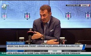 "Fikret Orman: ""Ali Koç'a çok şey borçluyuz!"""