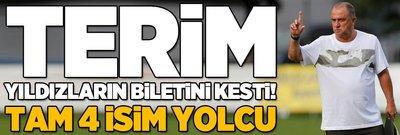Fatih Terim yıldız futbolcuların biletlerini kesti