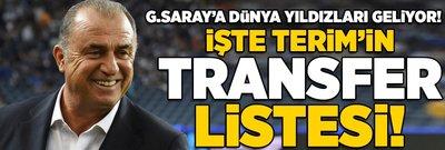 Galatasaray'a dünya yıldızları geliyor! İşte Terim'in transfer listesi...